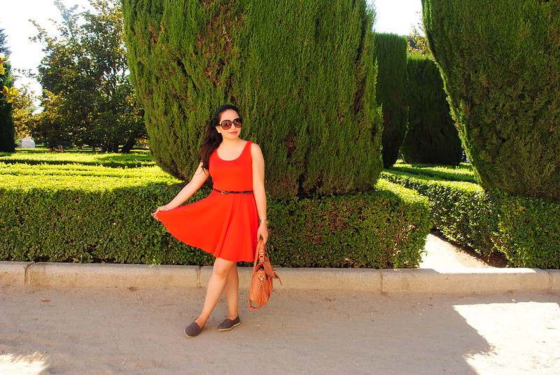 Red Dress + Greenery = High Contrast