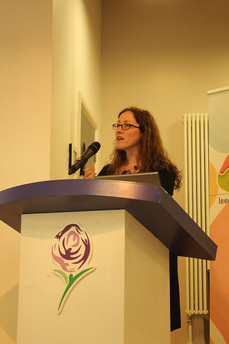 Mel Starrs talking at the Green Vision CSR event, Leeds, 5 July 2012