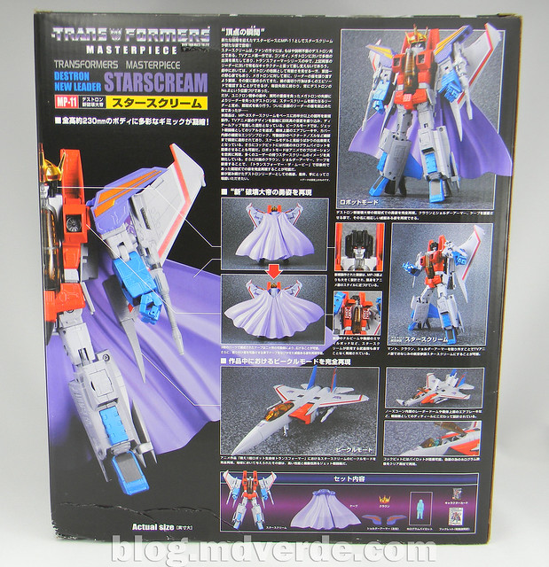 Transformers Starscream Masterpiece MP-11 - caja