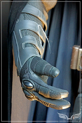 The Establishing Shot: CHRISTIAN BALE'S ORIGINAL BATMAN COSTUMES FROM THE DARK KNIGHT RISES GLOVE OUTER DETAIL - LONDON by Craig Grobler