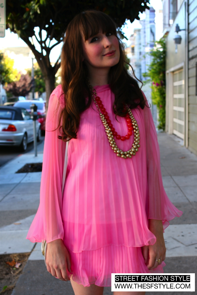 san francisco, street fashion style, pink, ashley ording,