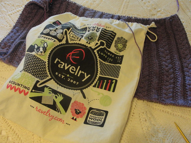 2012 Helens Fall Sweater & Ravelry Bag