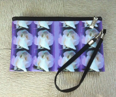 "Wrist Purse with ""Nine White Roses"" by randubnick"