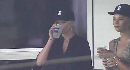 Kate Upton Drinking