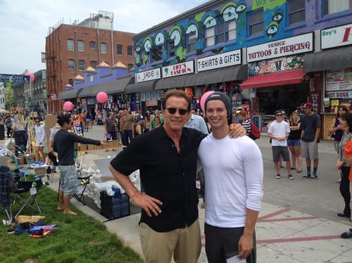 Arnold Schwarzenegger and Patrick Shriver Venice Beach