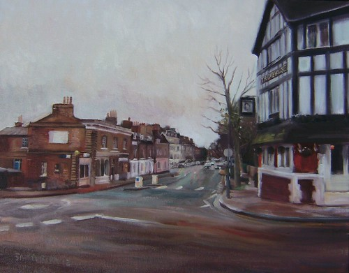 The Gate House Pub, Highgate North London my painting