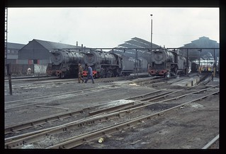 017. 1980-12. Germiston (SA) Loco Shed - SAR.