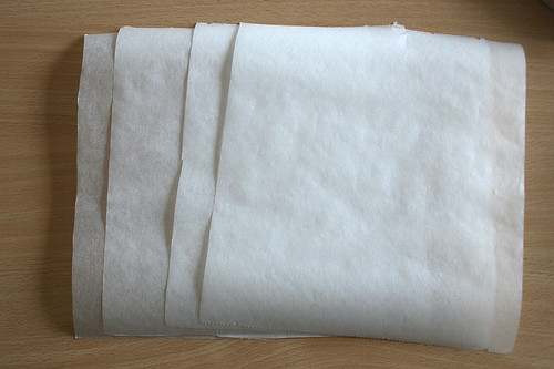 17 - Backpapier zuschneiden / Cut baking paper