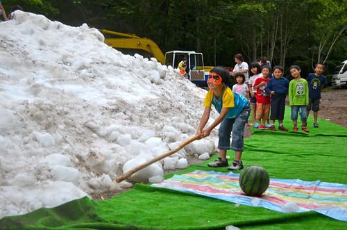 奥鬼怒 夏の雪まつり