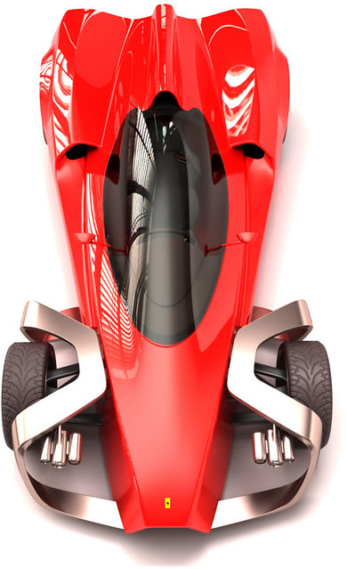 Ferrari Zobin Concept Car looks like a paper-rocket ...