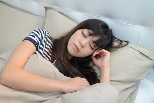 [フリー画像素材] 人物, 女性 - アジア, 寝顔・寝姿, 台湾人 ID:201207270800