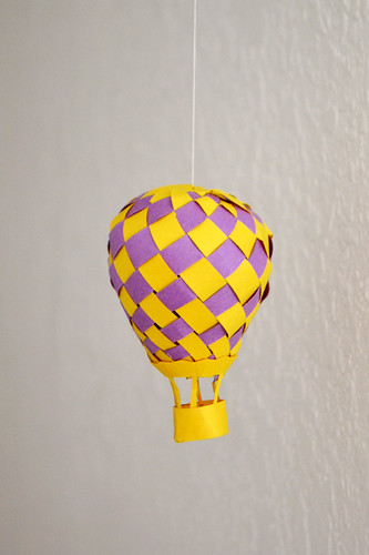Paper crafted balloon mobile
