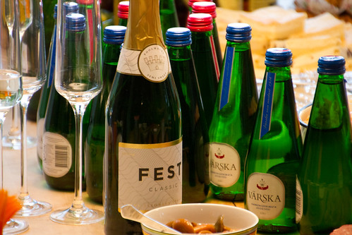 Põltsamaa FEST (first Estonian bubbly) and Värska mineral waters