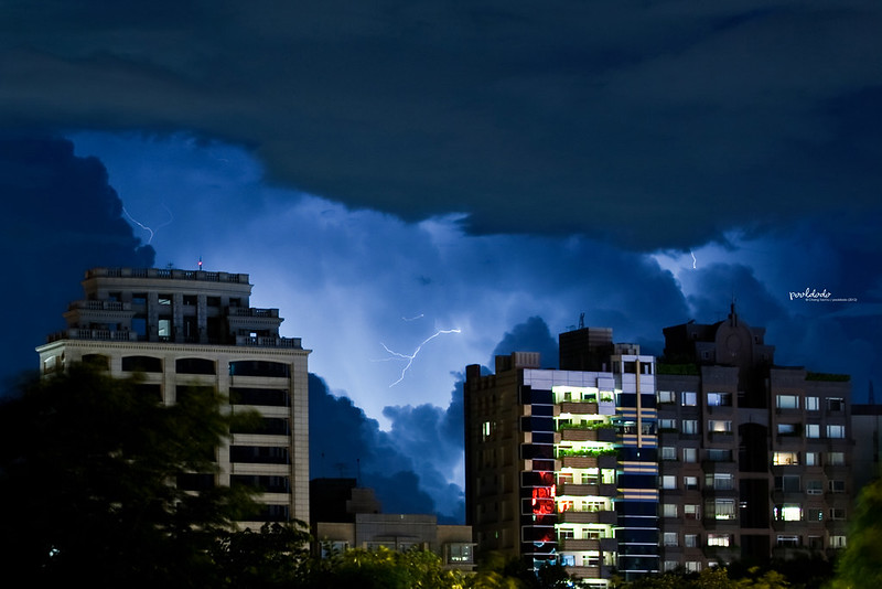[meteorology] thunder night