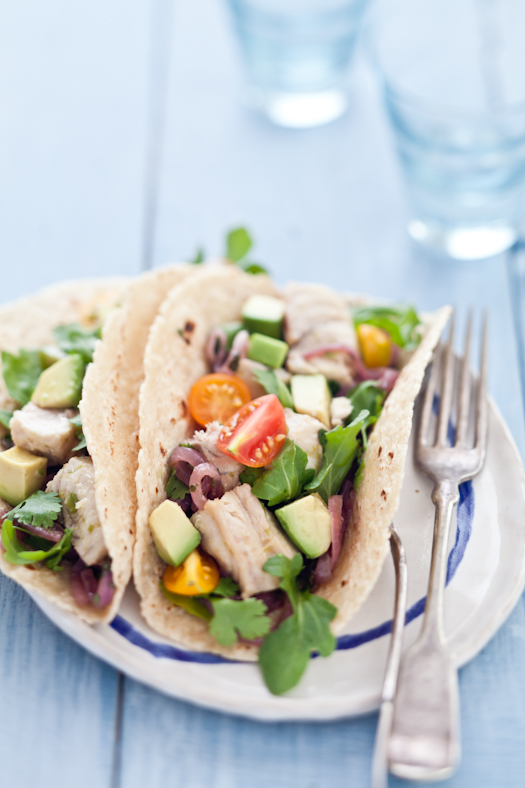 Tartelette: Fresh Shark Tacos With Lime & Red Onion Marinade