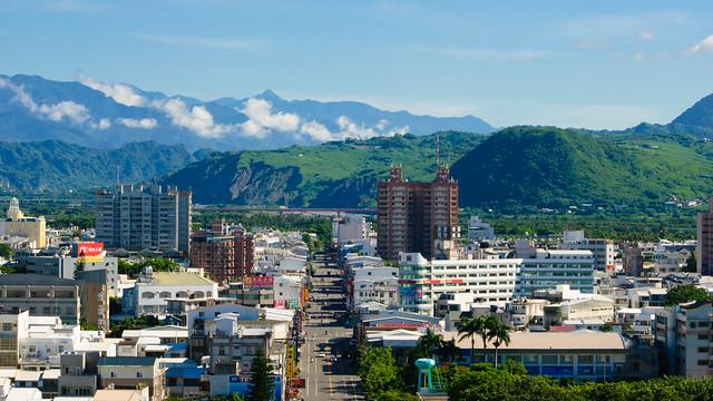 View From Taitung 鯉魚山上的台東風景