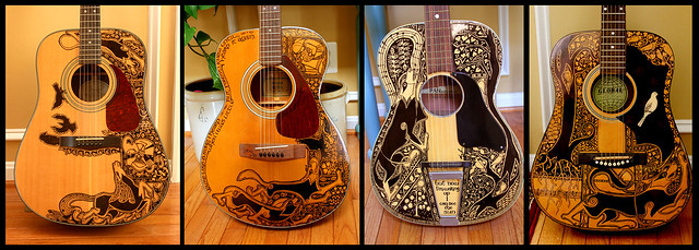 Sharpie Guitars All