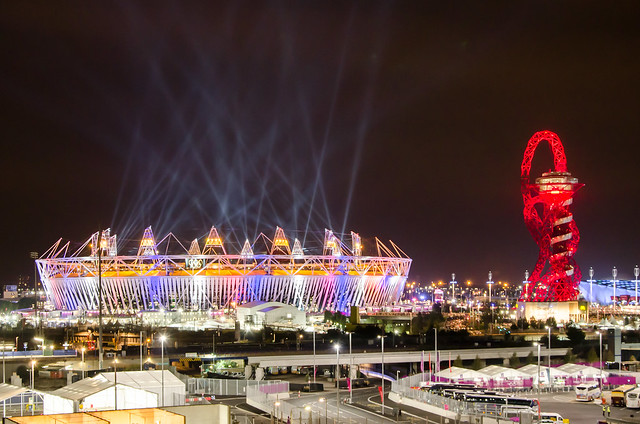 The Olympic Stadium During London Olympics Opening Ceremony
