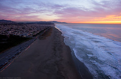 Winter sunset, Ocean Beach by Michael Layefsky