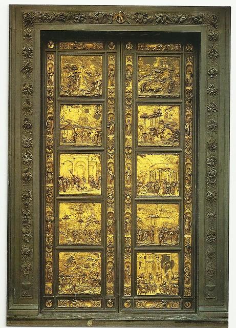 the main characteristics of ghibertis 3rd set of baptistry doors