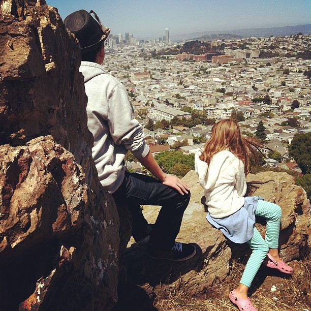Took my kids to the rocks on Bernal heights where I played as a kid with my best friend.