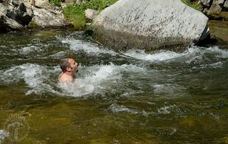 Jesse rides the rapids
