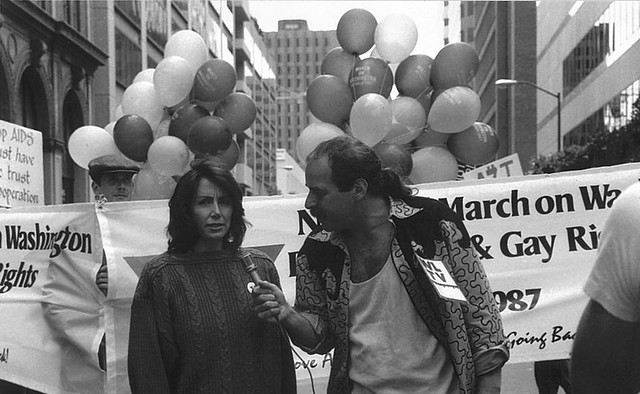 Congresswoman Pelosi at the Second National March in 1987 ...