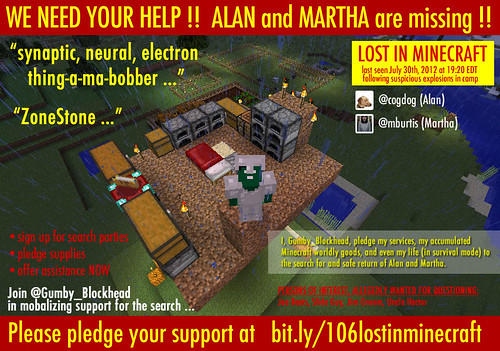 """HELP! Alan and Martha are Missing in Minecraft !!"" by aforgrave, on Flickr"