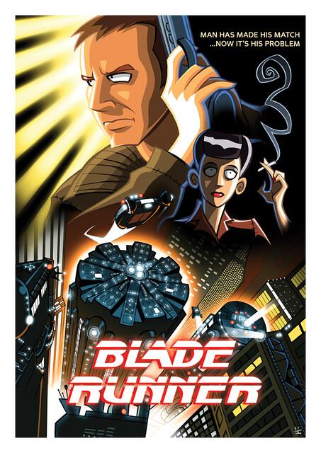 Posters de Filmes em animações blade runner