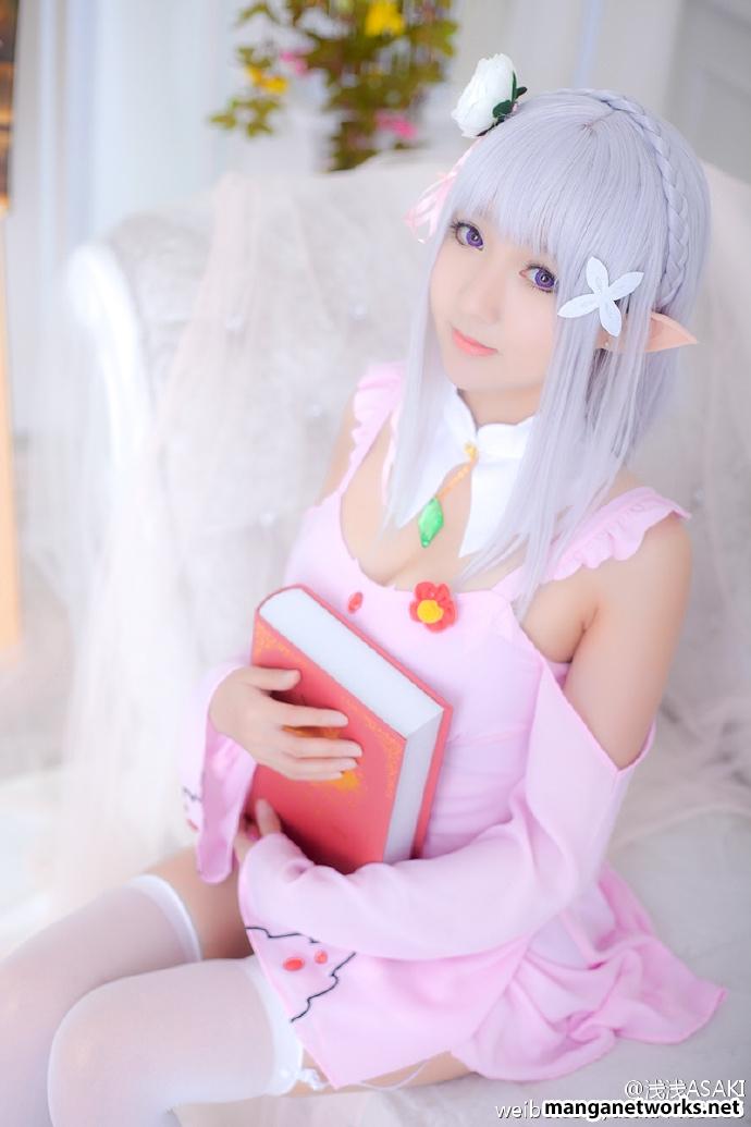 28990234720 0ee59bf779 o [ Tổng hợp ] Bộ ảnh cosplay của Emilia của Coser ASAKI   Dễ thương đến mê hồn