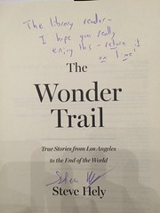 The Wonder Trail signed by Steve Hely
