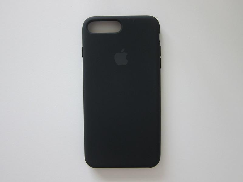 Apple iPhone 7 Plus Silicone Case (Black) - Back