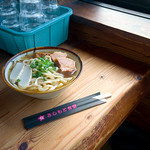 Soba (large) noodle Okinawa, JAPAN