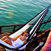 hammock-double-yacht-navy-white-stripe-yellow-leaf