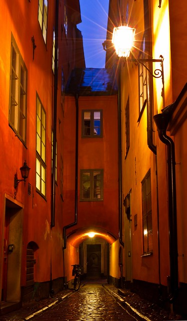 Cold and Wet Outside, Warm and Cosy Inside - Stockholm Old Town
