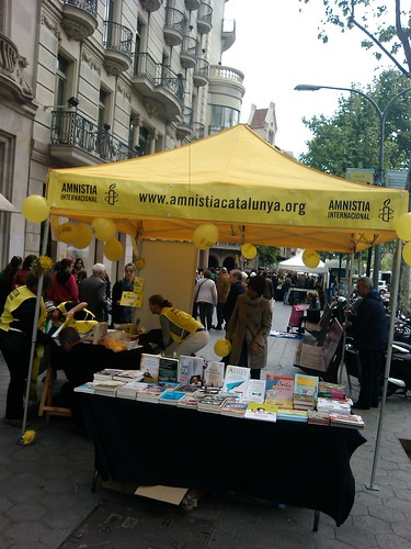 Amnesty International Book Stall by simonharrisbcn