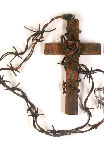 cross with barbed wire