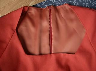 Red Linen Dress Lining