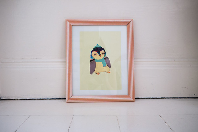 Cute Penguin print by Ashley Percival