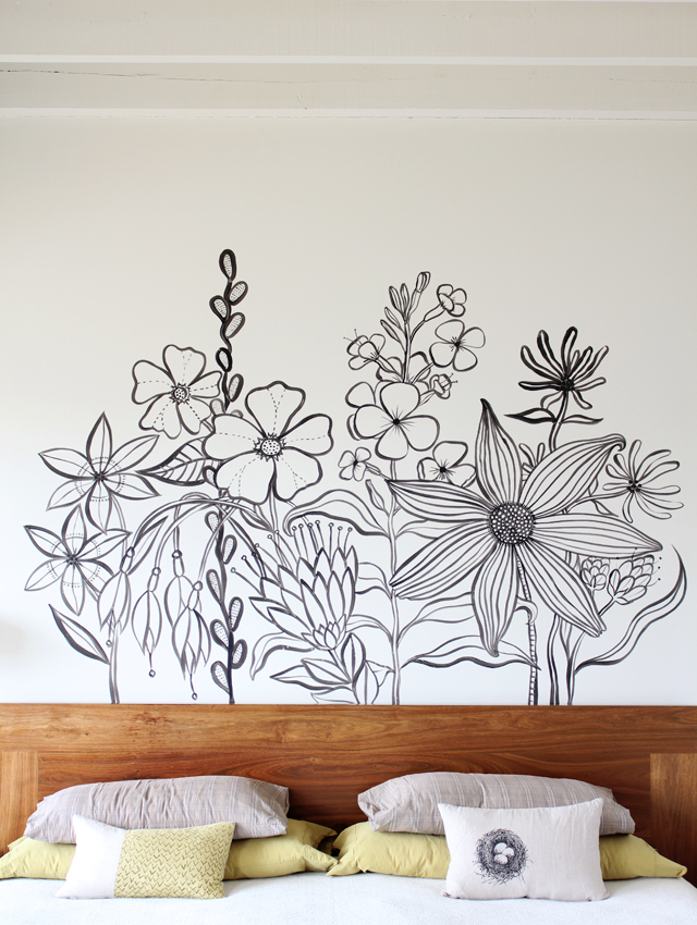 Geninne 39 s art blog flower mural for Mural headboard