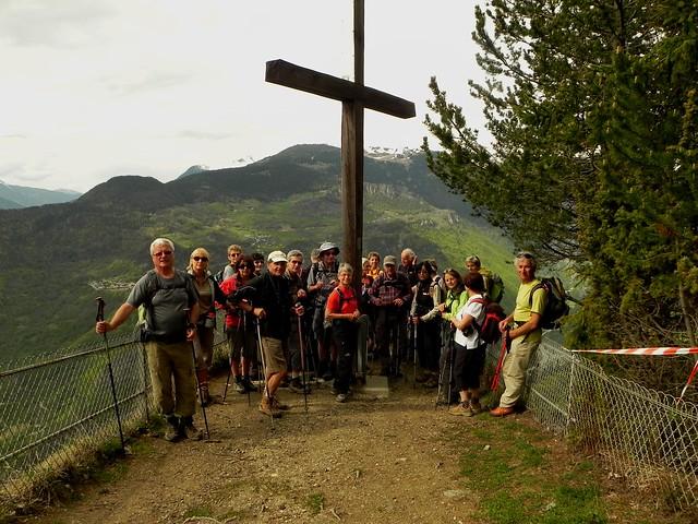 Le groupe à la Croix de Feissons