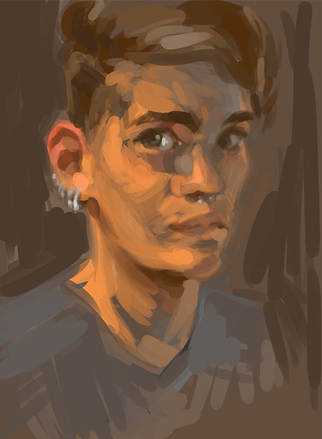 Portrait study - second pass
