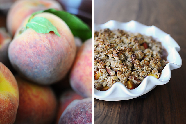 making-peach-crisp