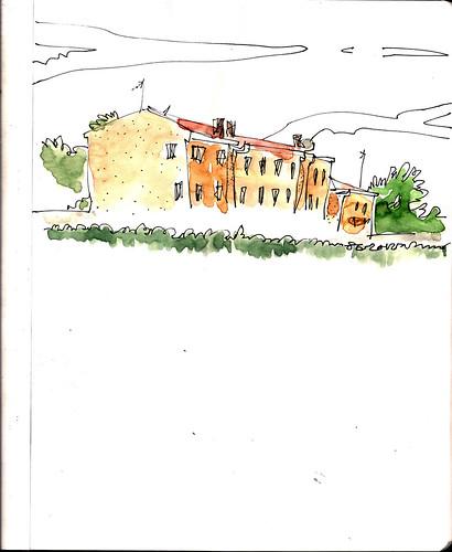 casas amarillentas, Madrid