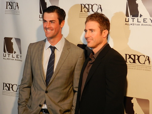 cole hamels & chase utley on the red carpet