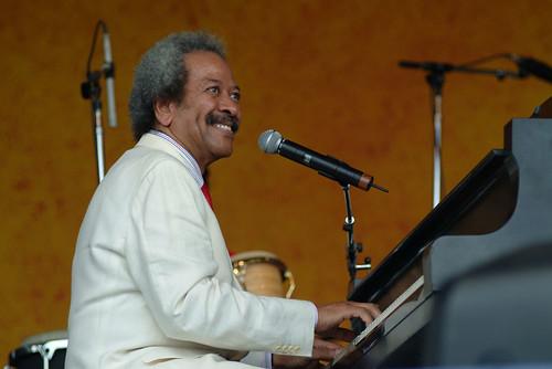 Allen Toussaint at Jazz Fest 2005. Photo Leon Morris.