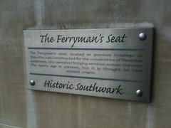 Photo of Ferryman's Seat brushed metal plaque