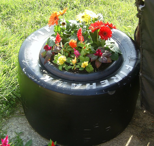 indy car tire planter flickr photo sharing