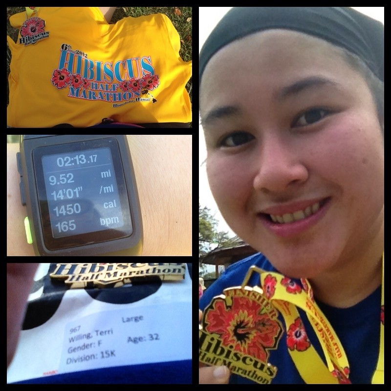 Hibiscus (Not) Half Marathon (But) 15K (instead)
