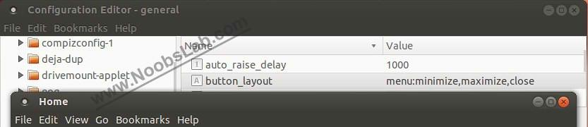 ubuntu buttons